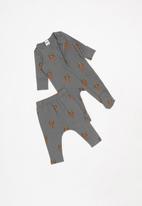Cotton On - Bundle romper and legging - grey