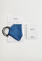 MANGO - Face masks - medium blue