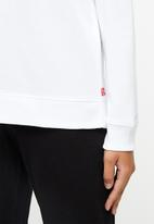 Levi's® - Relaxed graphic crew fleece good batwing - white