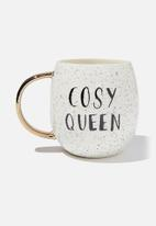 Cotton On - Marlana mug - cosy queen - white