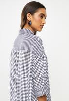 Me&B - Print mixing oversized shirt - multi