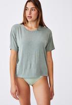 Cotton On - Sleep recovery crew T-shirt -  basil green