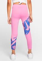 Nike - Nike girls dri fit marker mash legging - pink & blue