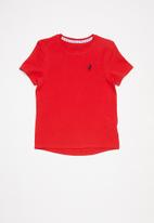 POLO - Girls kelly short sleeve tee - red