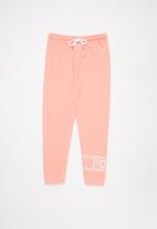 POLO - Girls amy wrap print track pant - pink