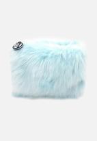 W7 Cosmetics - Furry Bag - Sky Blue