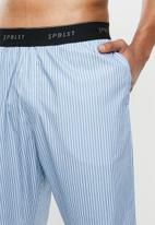 Superbalist - Woven sleep pants - blue & white