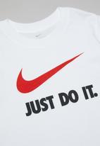 Nike - Boys nike sportswear tee jdi swoosh - white