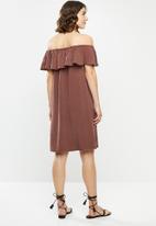 Vero Moda - Mia flounce summer dress - brown