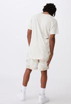 Factorie - Longline curved washed T-shirt - ivory