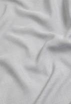 Sixth Floor - Slub unlined taped café curtain - grey