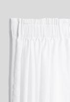 Sixth Floor - Slub unlined taped café curtain - white