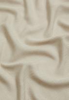 Sixth Floor - Slub unlined taped café curtain - natural