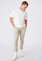 Cotton On - Skinny stretch chino - beige