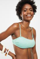 Lizzy - Gazella textured bandeau top with removable straps and padding - aqua