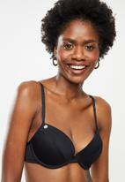 Lizzy - Katrina underwire bikini top with fixed padding - black