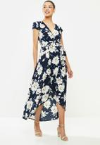 Revenge - High low floral midi dress - multi