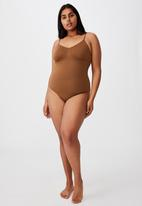 Cotton On - Go figure smooth bodysuit - chocolate mousse