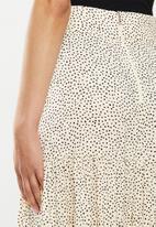 MILLA - Printed tiered skirt - neutral & black