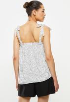MILLA - Cami tie top - white & black