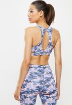 Fitgymwear - Printed ultra preto - blue & pink