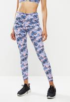 Fitgymwear - Printed Kayla x skinny - blue & pink