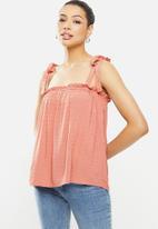 MILLA - Cami tie top - pink