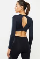 Fitgymwear - Katja preto crop - black