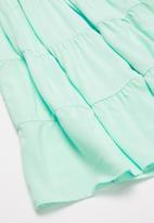 POP CANDY - Patterned tiered dress - green