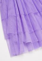 POP CANDY - Tiered mesh combo dress - purple