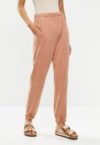 Cotton On - High waist track pant - dusty pink