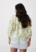 Cotton On - Curve peasant blouse - sharna floral