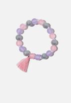 Cotton On - Mixed beaded bracelet with tassel - multi