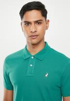 POLO - Carter custom fit pique golfer - teal