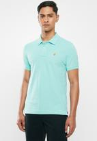 POLO - Carter custom fit pique golfer - turquoise