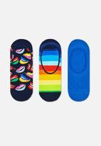 Happy Socks - 3-pack lips liner sock -multi