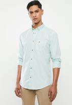 POLO - Jason textured signature shirt - blue