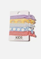Cotton On - Knot messy hair ties - rainbow and daisies