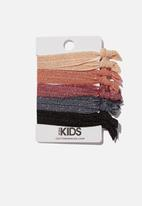 Cotton On - Knot messy hair ties - glitter nights