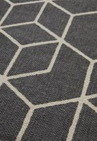 Sixth Floor - Cube printed runner - charcoal