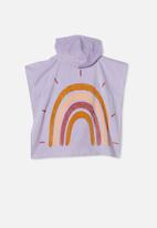Cotton On - Kids hooded towel - lilac rainbow