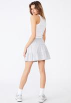 Factorie - Jersey tiered skirt - grey