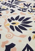Sixth Floor - Blossom printed rug - multi