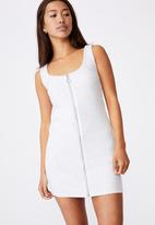 Factorie - Zipper front dress - silver