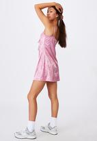 Factorie - Key hole fit and flare dress - pink
