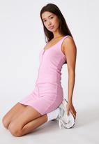 Factorie - Zipper front dress - babe pink
