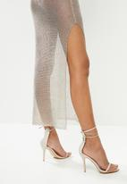 Sissy Boy - Rayina: lurex maxi dress - silver