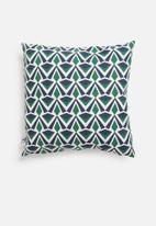 Sixth Floor - Deco cushion cover - blue