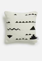 Sixth Floor - Puzzle cushion - black & white