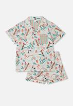 Cotton On - Patty woven short sleeve pj set - australian christmas vanilla